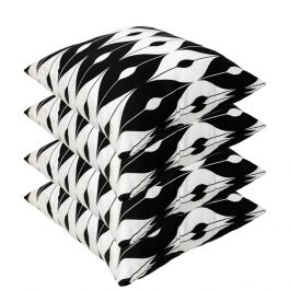Black Pattern Outdoor Scatter Cushion 45x45cm - Pack Of 4