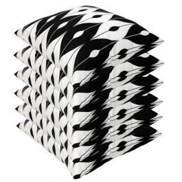 Black Pattern Outdoor Scatter Cushion 45x45cm - Pack Of 6