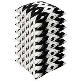 Black Pattern Outdoor Scatter Cushion 45x45cm - Pack Of 8