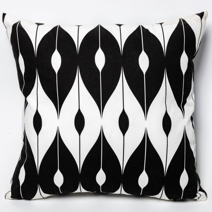 Black Pattern Outdoor Scatter Cushion 45x45cm