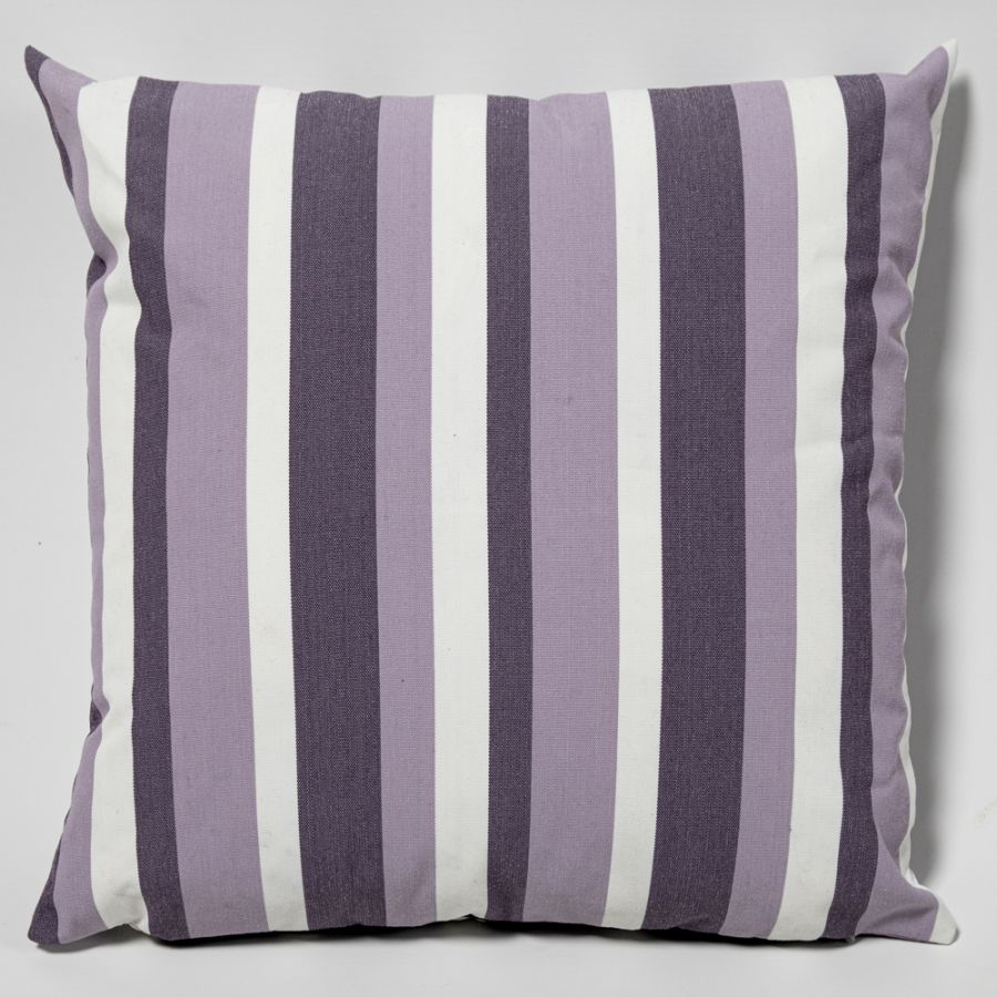 Lilac Stripe Outdoor Scatter Cushion 45x45cm