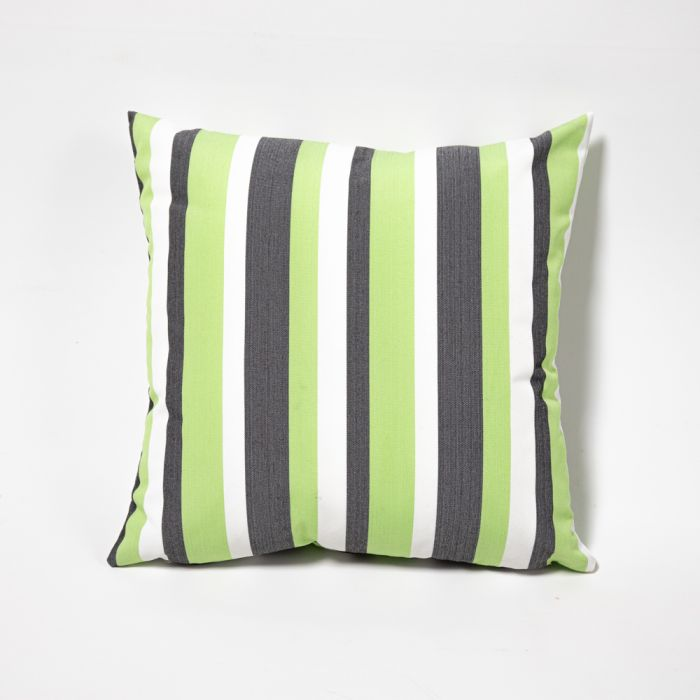 Lime Green Striped Outdoor Scatter Cushion 45x45cm