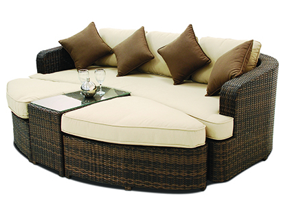 Maze Rattan - Toronto Daybed in Mixed Chocolate