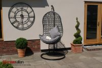Maze Rattan - Hanging Chair in Grey