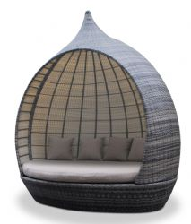 Rattan Pear Daybed - Mixed Chocolate