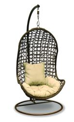 Maze Rattan - Hanging Chair in Brown