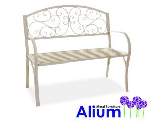 Alium™ Cipriani 1.09m (3ft 7in) Antique Effect Steel Bench