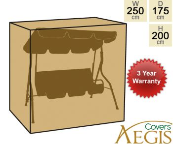 3 Seater Black Swing Cover Aegis W250 x D175cm - Deluxe