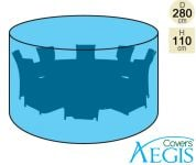 8 Seater Green Round Set Cover Aegis D280cm - Standard