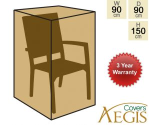 Stacking Chair Black Cover Aegis H150cm x W90cm - Deluxe