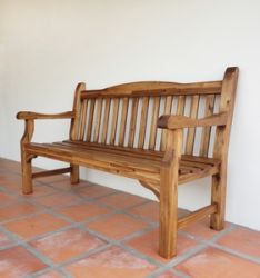 Rangoon 1.5m (4ft 11in) Teak Bench