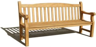 Rangoon 1.8m (5ft 10¾in) Teak Bench