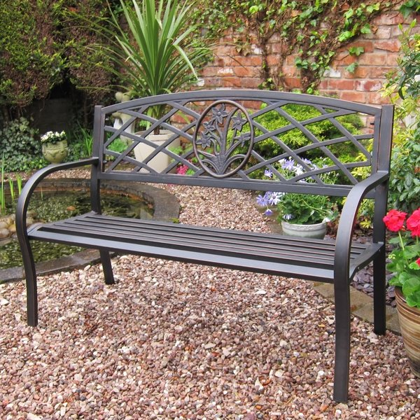 Reims 1.3m (4ft 2in) Steel Bench
