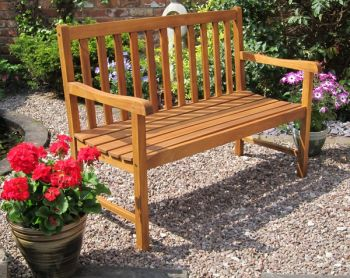 Kent 2 Seater Curved Back Bench