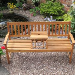 Kent 3 Seater Bench with Pop Up Table