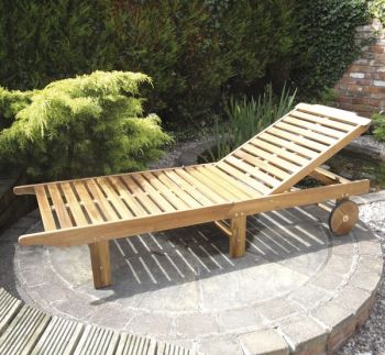 Kent Hardwood Folding Lounger