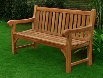 Dan Nardi Big Classic 1.5m (4ft 11in) Teak Bench by Liz Frances™