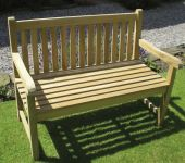 Java 1.2m (3ft 11¼in) Teak Bench by Liz Frances™