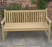 Java 1.5m (4ft 11in) Teak Bench by Liz Frances�