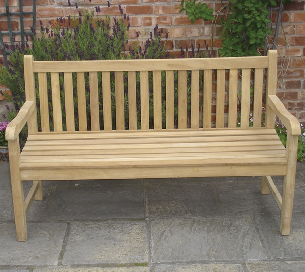 Java 1.5m (4ft 11in) Teak Bench by Liz Frances™