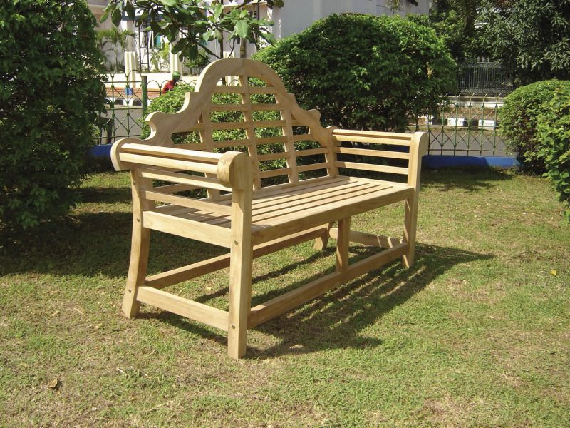 Lutyen 1.5m (4ft 11in) Teak Bench by Liz Frances™