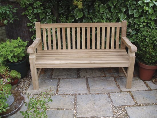 Wycombe 1.5m (4ft 11in) Teak Bench by Liz Frances™