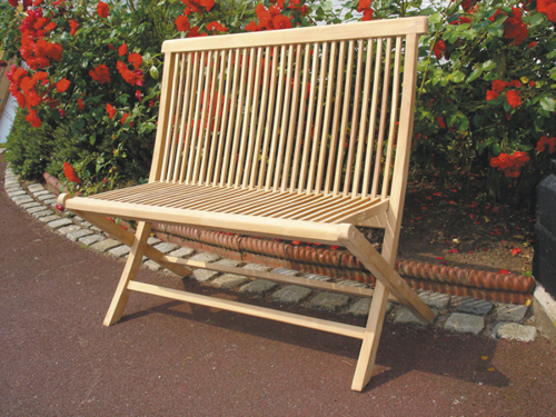 Plymouth 1m (3ft 3in) Teak Folding Bench by Liz Frances™