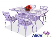 Alium™ Lincoln 4 Seater Rectangular Dining Set in Lilac