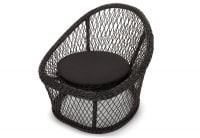 Cuba Rattan Lounge Chair - Black