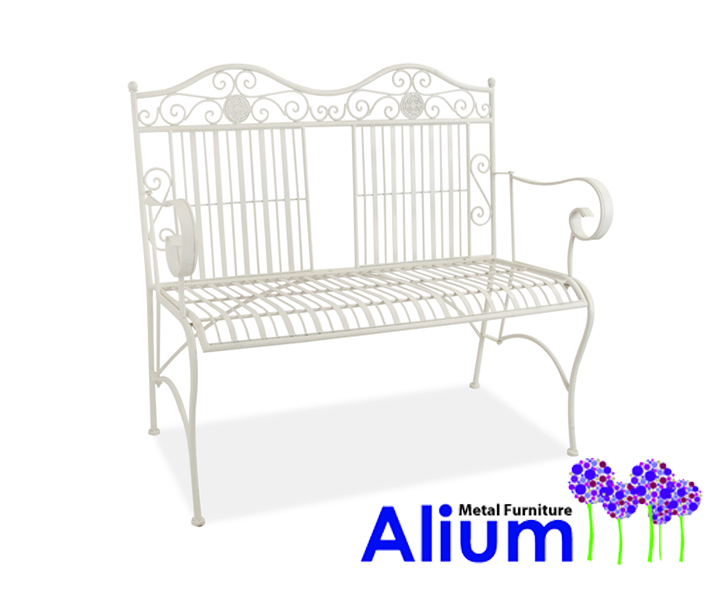 Alium™ Caprari 1.07m (3ft 6in) Steel Bench