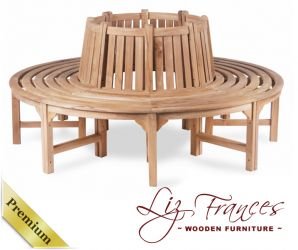 Tree Seat 1.8m 'Hayle' Grade A Teak by Liz Frances™