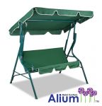 Alium� 3 Seater Swing Seat Hammock with Frilled Canopy - Green