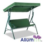 Alium� 3 Seater Swing Seat Hammock with Straight Canopy - Green