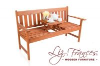 Taunton Hardwood 2 Seater 1.5m Pop Up Bench by Liz Frances™