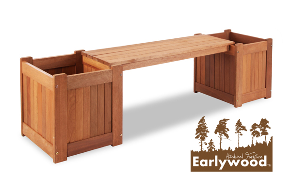 Earlywood™ Guildford 2 Seater Hardwood Planter Box 1.7m Garden Bench