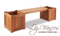 Guildford 2 Seater Hardwood Planter Box 1.7m Garden Bench by Liz Frances™