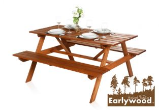 Earlywood™ Camberley Hardwood 1.5m Garden Picnic Bench