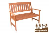 Earlywood™ Richmond Hardwood 2 Seater 1.2m Garden Bench
