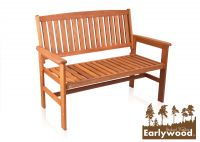 Earlywood™ Oakham Hardwood 2 Seater 1.2m Garden Bench