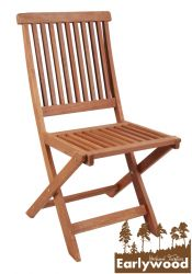 Pair of Ilford Folding Hardwood Garden Chairs by Earlywood