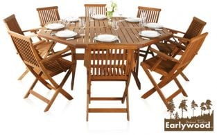 Earlywood™ Ilford 8 Seater Hardwood Armchair Garden Furniture Set