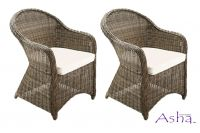 "Asha™ ""Weymouth"" Armchairs with Cushions"