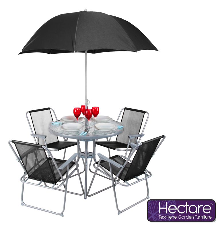 Hectare� Mallory 4 Seater SuperPolyTex Garden Furniture Set with Parasol