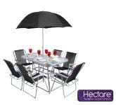 Hectare� Mallory 6 Seater SuperPolyTex Garden Furniture with Parasol