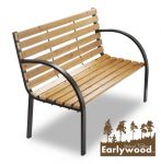 Earlywood� Yarnton 1.2m (3ft 11�in) 2 Seater Hardwood Garden Park Bench