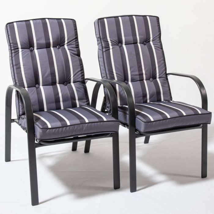 Hadleigh Set Of 6 Armchairs With Cushions In Grey By Hectare™