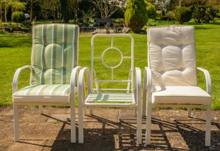 Hadleigh Set Of 4 Reclining Armchairs In White By Hectare™
