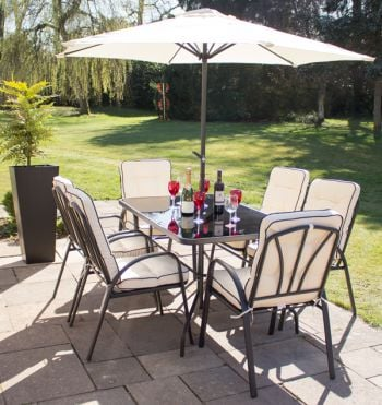 Hadleigh 6 Seater Garden Dining Furniture Set by Hectare™