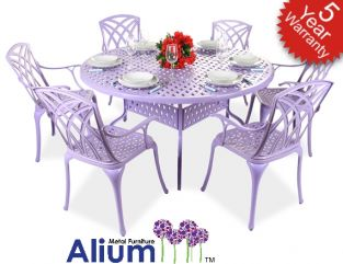 Alium™ Washington 6 Seater Round Dining Set in Lilac