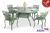 Alium� Lincoln 4 Seater Round Dining Set